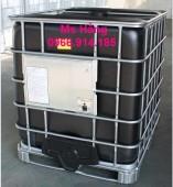 Tank IBC 1000 lít màu đen đựng hóa chất,IBC màu đen 1000 lít
