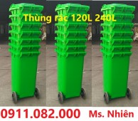 Nơi cung cấp thùng rác 120 lít 240 lít giá rẻ nhất quận bình tân- thùng rác sỉ l