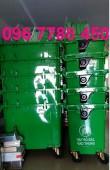 Bán xe gom rác môi trường công cộng 660 lít giá cạnh tranh.