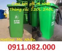 Kiên Giang- Nơi bán thùng rác 240 lít giá rẻ, thùng rác nhựa nắp kín- lh Ms.Nhiê