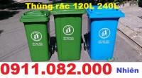 Nơi bán thùng đựng rác loại 120 lít 240 lít giá rẻ- thùng rác nhựa hdpe- lh 0911