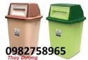 Thùng rác nắp bập bênh, thùng rác công cộng, thùng rác nhựa giá rẻ