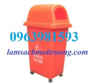 Thùng rác công nghiệp, thùng rác 95 lít, thùng rác nhựa HDPE giá rẻ