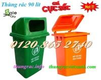 Bán thùng rác 90 lít nhựa HDPE giá siêu rẻ call 01208652740 – Huyền