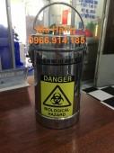 Hộp đựng kim tiêm inox,hộp hủy kim inox 2 lít