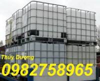Cung cấp Tank nhựa, tank IBC 1000 lít, thùng nhựa trắng 1000 lít