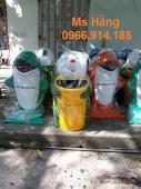 Thùng rác con gấu giá rẻ,thùng rác hình con thú giá rẻ