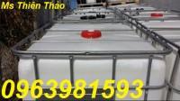 Bán tank nhựa 1000l, thùng nhựa 1 khối, thùng chứa hóa chất
