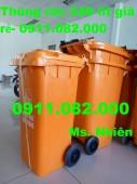 Thùng rác 240 lít giá rẻ tại thủ đức- 0911.082.000