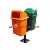 Thùng rác treo đôi, thùng rác công cộng, thùng rác nhựa Composite giá rẻ