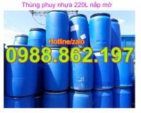 thùng phuy nắp nhỏ, thùng phuy, thùng phuy nhựa 220l, thùng phuy, thùng phuy đựn