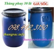 Thùng phuy nhựa 30 lít, thùng phuy đựng hóa chất 30 lít, thùng phuy 30 lít giá