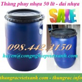 Thùng phuy nhựa 50 lít, thùng phuy đựng hóa chất 50 lít, thùng phuy 50 lít