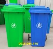 Thùng rác nhựa 120l, thùng rác công cộng 120l call 0916.944.470 Ms Duyên