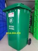 Thùng rác nhựa 240l, thùng rác công cộng, thùng rác nhựa giá rẻ call 0916.944.47