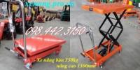 Xả hàng xe nâng bàn 350kg nâng cao 1.3m giá cực sốccall 0984423150 – Huyền