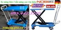 Xe nâng mặt bàn 1 tấn nâng cao 1 mét khuyến mãi giá rẻ call 0984423150 – Huyền
