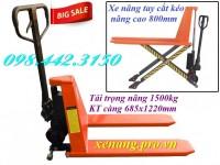 Xe nâng tay cắt kéo 1.5 tấn nâng cao 800mm giá siêu rẻ call 0984423150 – Huyền