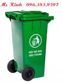mua thùng rác 120 lít của hãng nào tốt giá rẻ, giá thùng rác 120l nhựa hdpe