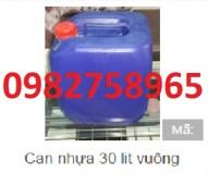 Bán can 30l, 20l, 25l, can đựng hóa chất, can nhựa vuông 20l, can 30l