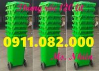 Nơi phân phối sỉ lẻ thùng rác 120 lít 240 lít giá rẻ- thùng rác bánh xe nắp kín-