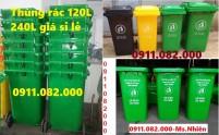 Địa chỉ cung cấp thùng rác công cộng giá rẻ- thùng rác 120L 240L 660L