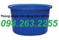 Bán thùng nhựa tròn 2000 lít, thùng nhựa hình chữ nhật có nắp đậy