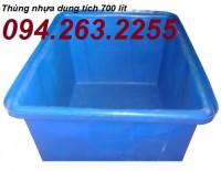 Thùng nhựa 3000l, 700l, thùng dung tích lớn, thùng cỡ lớn giá rẻ