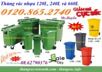 Tìm đại lý thùng rác 120 lít, thùng rác 240 lít và thùng rác 660 lít