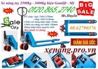 Giảm giá cực sốc xe nâng tay 2.5 tấn – xe nâng tay 3 tấn hiệu Gamlift – Mỹ