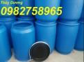 Bán Thùng phuy nhựa nắp mở, thùng phuy đựng dầu, thùng phuy nhựa 220l
