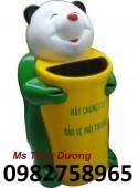 Thùng rác công cộng, thùng rác hình con thú, thùng rác nhựa HDPE giá rẻ