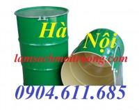 Thùng phuy sắt nắp mở, thùng phuy sắt 200 lít, thùng đựng hóa chất giá rẻ
