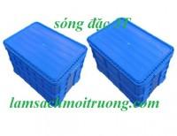 Sóng nhựa đặc 3t1 có nắp, thùng nhựa đặc 3t1, thùng nhựa đặc có nắp,