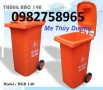 Bán thùng đựng rác công cộng, thùng rác nhựa 55l, thùng rác 120l giá rẻ