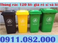 Nơi bán thùng rác 120 lít giá rẻ tại bình dương- lh 0911.082.000- nhiên