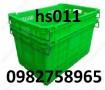 Sọt nhựa HS011, sọt nhựa quai sắt, sọt trái cây,