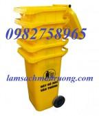 Thùng rác công cộng 120 lít, thùng rác nhựa HDPE, thùng rác 240 lít giá rẻ