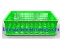 Sóng nhựa đan HS009, sóng nhựa hở, rổ nhựa công nghiệp giá rẻ