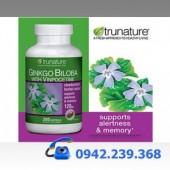 Trunature Ginkgo Biloba 120mg with Vinpocetine – Thuoc hỗ trợ Trị Bệnh Tiền Đình