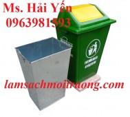 Thùng rác 60 lít, thùng rác 120 lít, thùng rác nhựa Composite giá rẻ