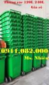 Cần thơ- Nơi phân phối bán thùng rác 240 lít giá rẻ-thùng rác nhựa, thùng rác mô
