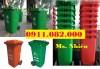 Chuyên cung cấp thùng rác cho các đại lý giá sỉ- Thùng rác 120L 240L 2 bánh xe n