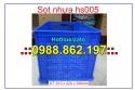 thùng nhựa hs005,Sọt nhựa hs005, sóng nhựa rỗng hs005, sọt nhựa hs005 giá rẻ, sọ