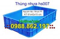 Thùng nhựa Hs007, thùng nhựa đặc hs007 giá rẻ, thùng nhựa, thùng chứa HS007, thù