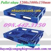 Pallet nhựa 1200x1000x150mm PL480 giá rẻ, siêu cạnh tranh call 0984423150