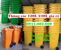 Bán sỉ thùng rác 240 lít giá rẻ tại cần thơ- Thùng rác nhựa giá rẻ- lh 0911.082.