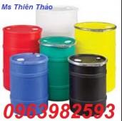 Bán thùng phuy nhựa 200 lít, vỏ thùng phuy cũ, thùng phuy giá rẻ