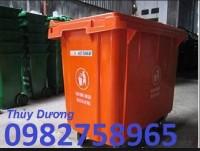 Xe gom rác 660l, xe gom rác nhựa, xe thu gom rác thải giá rẻ