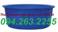 Bán thùng nhựa dung tích lớn, thùng nuôi cá, thùng nhựa 2000l giá rẻ